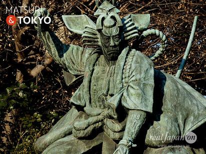 Bronze statue of ICHIKAWA DANJURO (市川團十郎), Tokyo tourism, ASAKUSA, 市川團十郎,銅像, 歌舞伎, TOKYO, 東京観光浅草