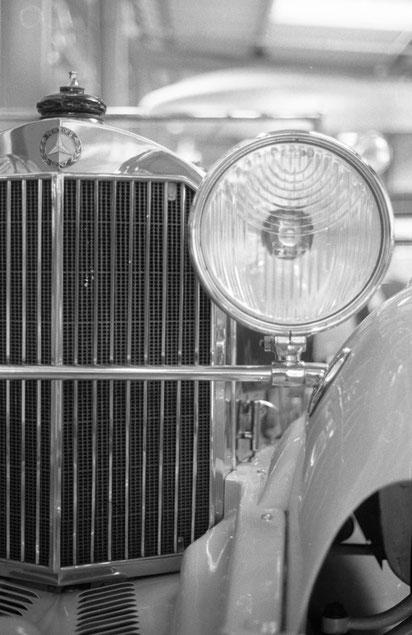 Mercedes im Verkehrsmuseum München - APX 400 - XTol - Minolta XE-1