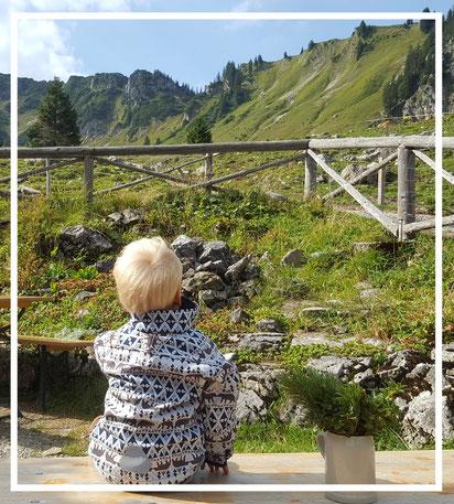 Berglandschaft - Almabtrieb - Kleinkind