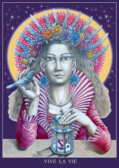 Vive La Vie - 2020, Farbstifte auf Papier, 65x50 cm, Digitalcollage