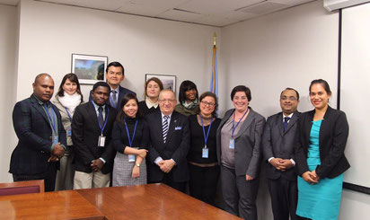 The Honorary President of the IOI invited to give a presentation to the UN-Nippon Foundation Fellows of 2015 (10th April 2015, New York, USA)