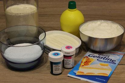 Zutaten für marmorierten Käsekuchen