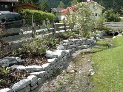 Bachverbau mit Halleiner Kalkstein