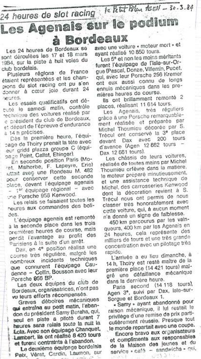 Le Petit Bleu d'Agen : article de Didier Dupuis