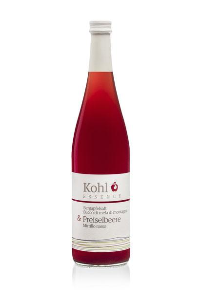 Kohl Bergapfelsaft Apfelsaft Preiselbeersaft Saft Cuvée Saftgourmet Gourmetsaft alkoholfreie Alternative