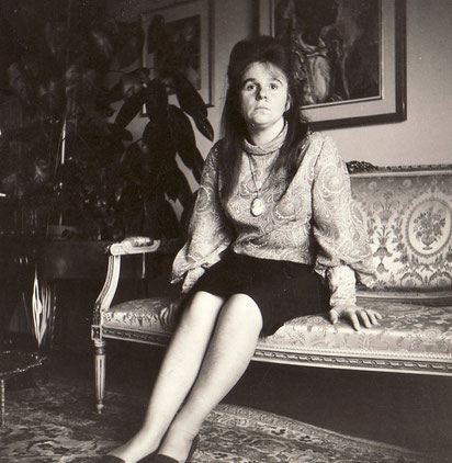 Bettina beim Schweizer Kunstsammler Dr. Eduard M. Fallet-Von Kastelberg, 1964