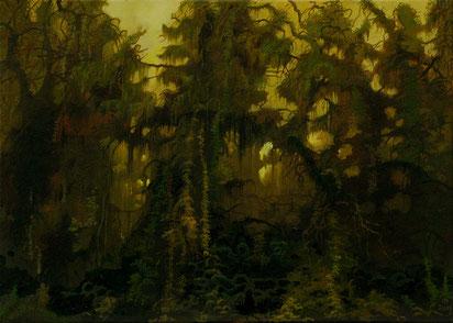 """Martin Becker """"Waldstück"""" 2011, Öl/Lwd, 57/70 cm"""