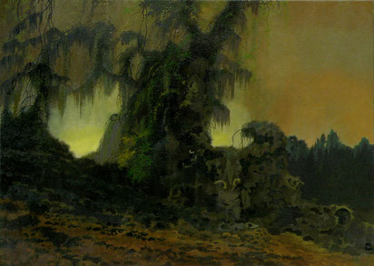 """Martin Guido Becker, """"Waldstück"""", 2011, 50/70 cm"""