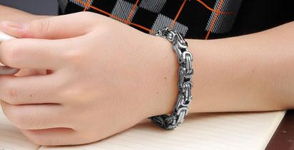 Königsketten Armband Silber, aus solidem Edelstahl, jetzt bei My Bijouterie online kaufen.