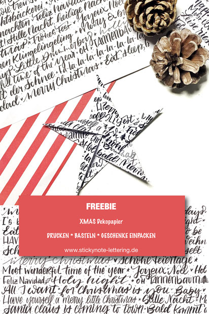 Freebie Pinterest Pin Xmas Papier