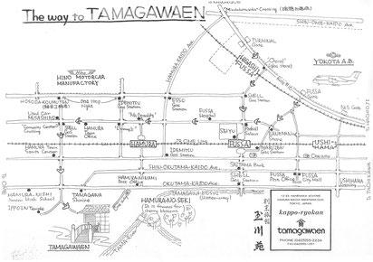 tamagawaen hamura map