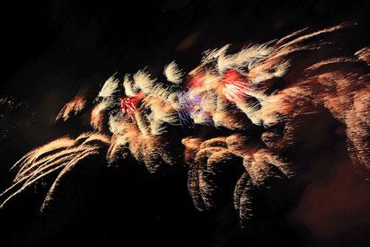 Professionelle Feuerwerke der Bavarian Fireworx Performance