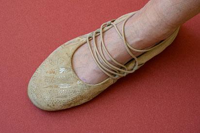 Mein durch Golddruck aufgehübschter Schuh