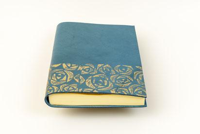 Rosen Notizbuch dick Leder A5