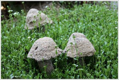 Pilze aus Beton, Betonpilze