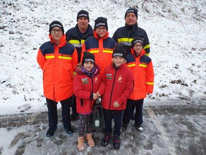 Friedenslichtübergabe der Feuerwehrjugend Stausee Soboth 22.12.2019
