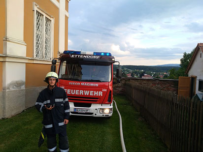 Übung mit FF Stainz beim Pfarrheim 19.07.2019