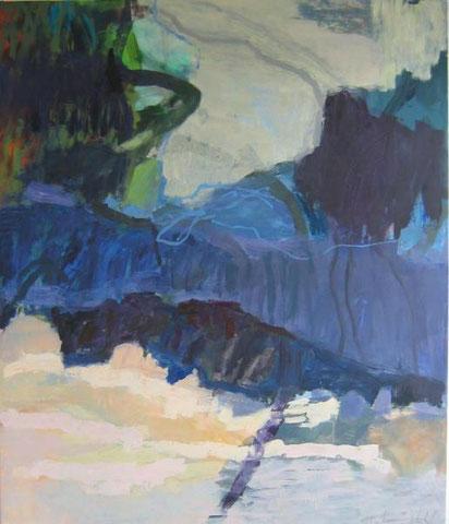 Landüber 2010 135 x 120 cm Öl / Leinwand