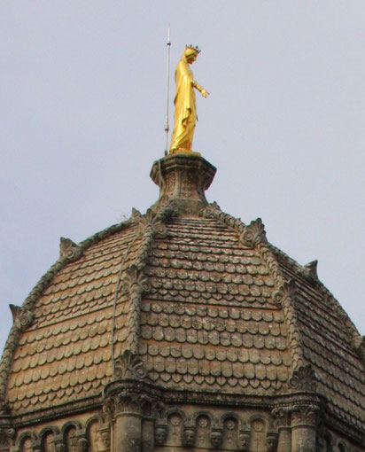 Bild: vergoldete Madonna, Forcalquier