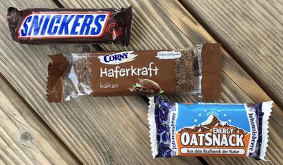 Snickers, Corny Haferkraft, Ostsnack, Energieriegel, Schokoriegel