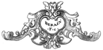 Vignette aus den Blättern des Jean Berain von 1667.