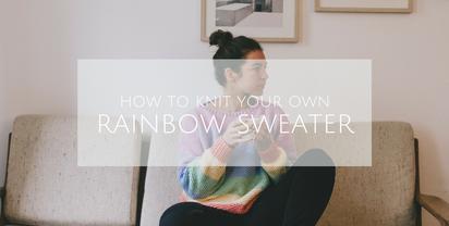 Rainbow Sweater – free knitting pattern