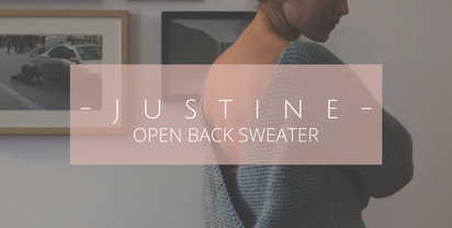 JUSTINE – open back sweater