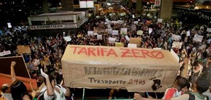"""""""Bevægelsen for gratis offentlig transport"""" i Porto Alegre"""