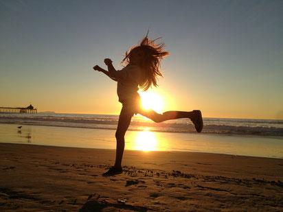 Gesundheit, Vitalität, Laufen, Meer, Sonne, Glücklich, gesund, Freude, Lebenslust, Natur