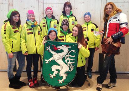 RLZ Team 2012/13 österr. Schulschimeisterschaften in Tirol mit Birgit Franek