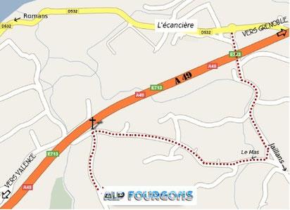 Plan d'accès à l'atelier ALP FOURGONS