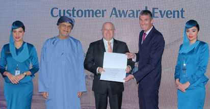 Award Ceremony, Muscat, Oman 04MAR20. Image courtesy of Oman Air