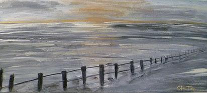 Wattenmeer, Acryl auf Leinwand, Christel Thoenes