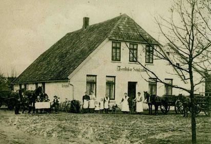 """Foto: Der """"Tweelbäker Schützenhof"""" (um 1910)"""