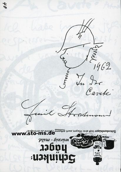 Skizze von Emil Stratmann