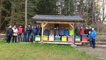 Die neue Bienenhütte von Fam. Striedinger in Gries