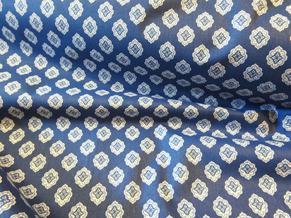 Provencestoff Nimes blau-weiß