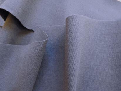 Interlock-Jersey aus Baumwolle, taubenblau
