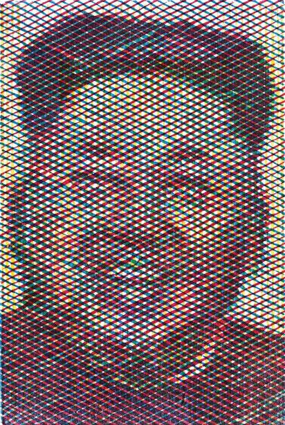 Kim Jong Un Holzschnitt, 79 (Kim Jong Un, Oktober 2014, PostkArt), 김정은,판화