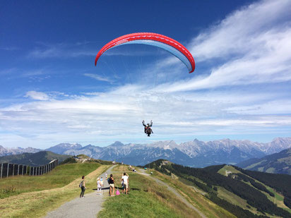 Paragliding at Schmittenhöhe in Zell am See