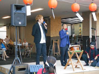名古屋お笑い芸人 ファニーチャップ 瀬戸市夏祭りで漫才