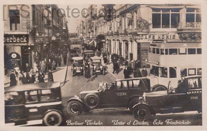 [AK 1927: Berliner Verkehr. I.W.B. Nr. 501. Eigentum R. Saalfeld]