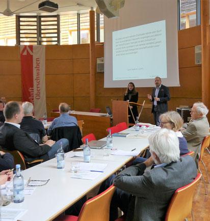 Vortrag Dr. Senta Herkle und Moderation Prof. Dr. Dietmar Schiersner