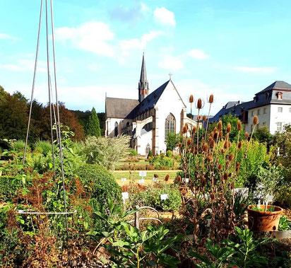 Kräutergarten im Kloster Marienstatt bei Hachenburg
