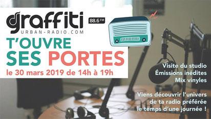 Graffiti Urban Radio journée porte ouverte le 30 mars 2019, DAB+ La Roche-sur-Yon