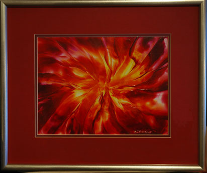 Inferno - Original Encaustic Wax Painting - by Anne Berendt