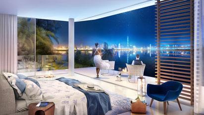 vente de villa de luxe à Dubai pied dans l'eau par JINVESTY