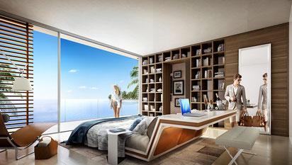 JINVESTY Achat VILLAS de luxe DUBAI VUE MER LCDE