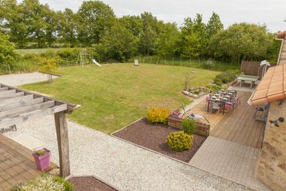 Terrain clos, aménagements extérieurs et espaces verts
