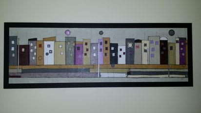 Tableaux et décoration du gîte réalisés par une artiste peintre Clarisse Chauvin